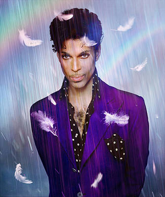 Celebrities Digital Art - When Doves Cry by Mal Bray