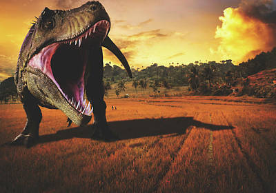 Surreal Digital Art Mixed Media - When Giants Roamed The Earth by Pixabay