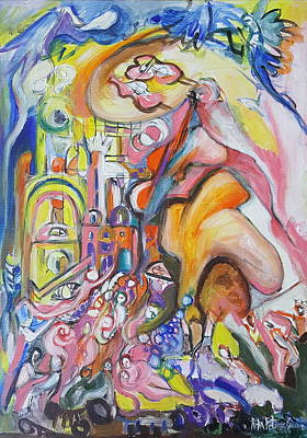 Painting - When God Said First Time by Rita Fetisov