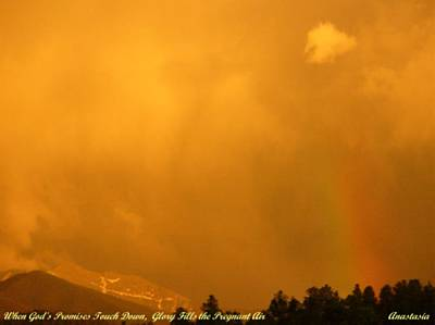 Art Print featuring the photograph When God's Promises Touch Down... by Anastasia Savage Ealy