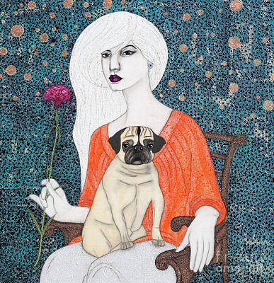 Art Print featuring the painting When I Call by Natalie Briney