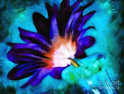 Floral Digital Art Digital Art Digital Art - When I Think Of You by Krissy Katsimbras