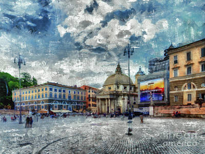 Digital Art - When In Rome 49 - Piazza Del Popolo by Leigh Kemp