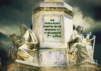 Digital Art - When In Rome 59 - Dramatic Statues by Leigh Kemp