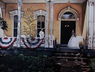 Southern Indiana Painting - When Johnny Comes Marching Home Again by C Robert Follett