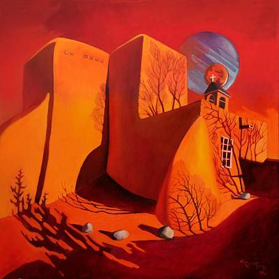 Taos Painting - When Jupiter Aligns With Mars by Art West