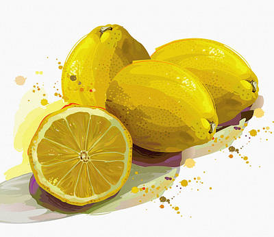 Outdoor Still Life Digital Art - When Life Gives You Lemons by Don Kuing