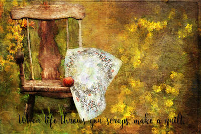 Painting - When Life Throws You Scraps, Make A Quilt by Christina VanGinkel