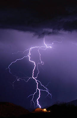 Photograph - When Lightning Strikes by Marie Leslie