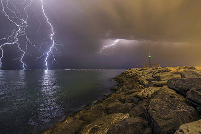Iran Photograph - When Lightning Strikes by Mehdi Momenzadeh