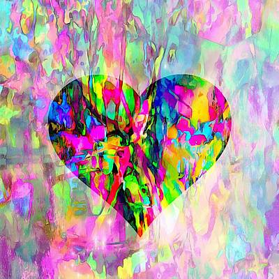 Digital Art - When Love Bleeds Through by Dorothy Berry-Lound