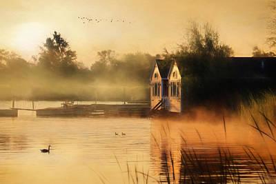 Goose Mixed Media - When Morning Calls by Lori Deiter