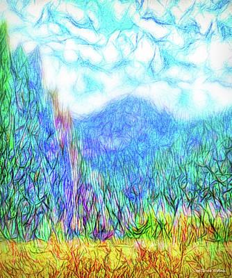 Digital Art - When Mountains Beckon by Joel Bruce Wallach