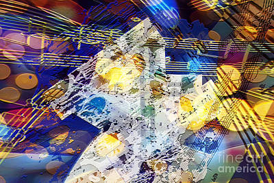 Digital Art - When Music And Art Embrace by Margie Chapman