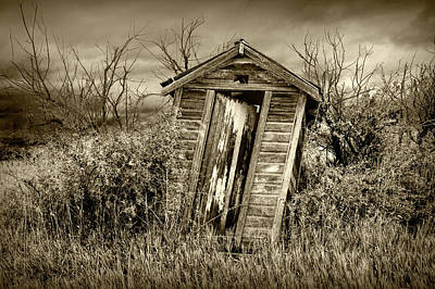 Photograph - When Nature Calls In Sepia Tone by Randall Nyhof