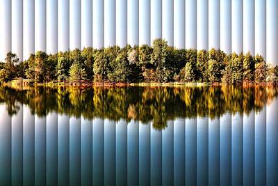 Art Print featuring the photograph When Nature Reflects - The Slat Collection by Bill Kesler