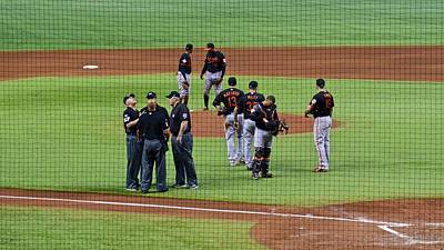 Photograph - When No One Can Decide What To Call A High Fly Ball by Carol Bradley