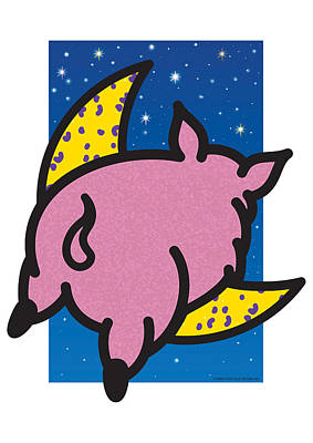 Painting - When Pigs Fly by Steve Ellis