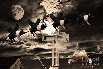 When Pigs Fly Art Print by Wingsdomain Art and Photography