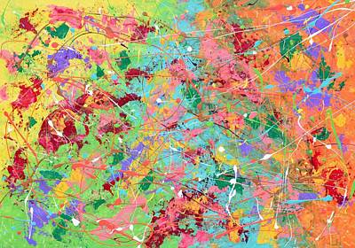 Painting - When Pollock Was Happy by Sumit Mehndiratta