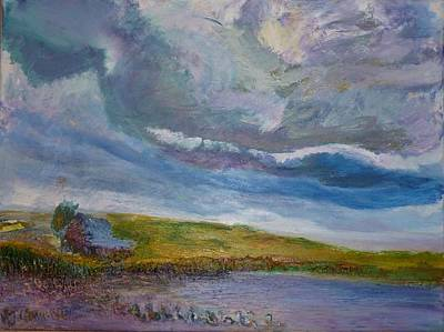 Painting - When Push Comes To Shove by Helen Campbell