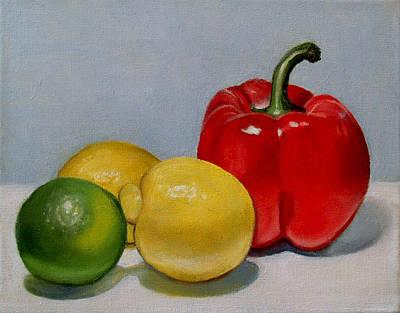Maureen Hunt Piccirillo Painting - When Push Comes To Shove by Maureen Piccirillo