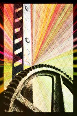 Pinion Digital Art - When Rack And Pinion Spark -- Zahnstangenfunkel by Arthur V Kuhrmeier