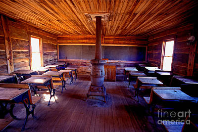 When School Was In 1-room Art Print by Paul W Faust -  Impressions of Light