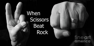 Photograph - When Scissors Beat Rock by Nina Silver