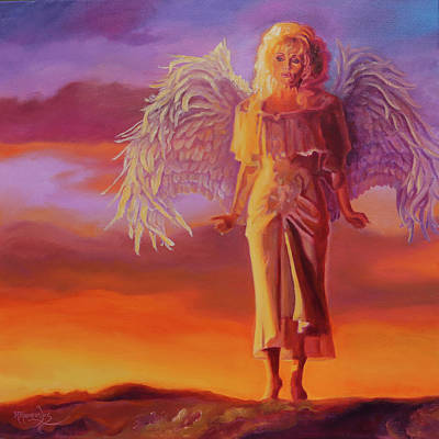 Painting - When She Flies - Dolly Parton by Maria Modopoulos