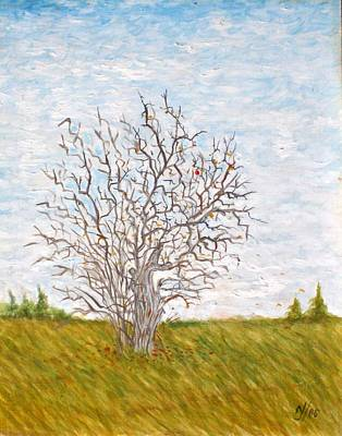 Painting - When The Apples Are Gone by Norman F Jackson