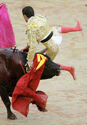 When The Bull Gores The Matador V Art Print by Rafa Rivas