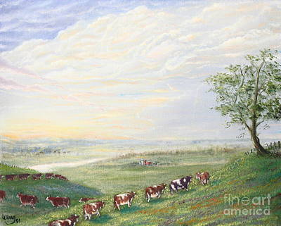 Painting - When The Cows Come Home 1991 by Wingsdomain Art and Photography