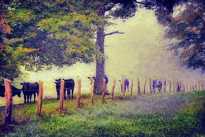 Painting - When The Cows Come Home - Blue Ridge Ap by Dan Carmichael