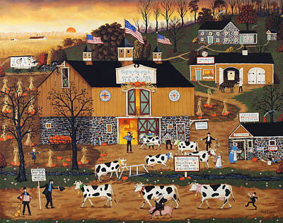 When The Cows Come Home Print by Joseph Holodook