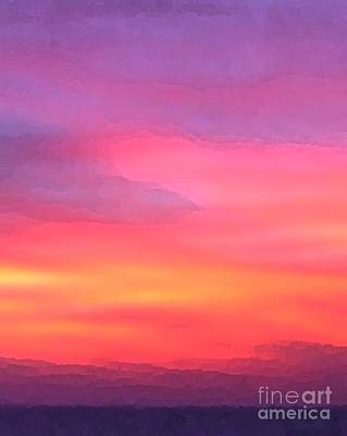 Photograph - When The Deep Purple Falls Sunset by Barbie Corbett-Newmin