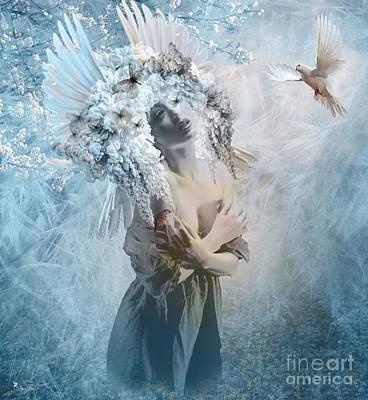 Digital Art - When The Dove Flys by Ali Oppy