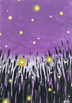 Youthful Painting - When The Fireflies Play by Jennifer McCallister