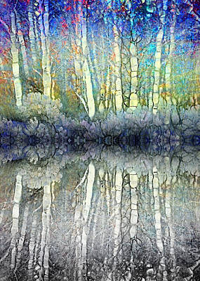 When The Forest Gets The Blues Art Print by Tara Turner
