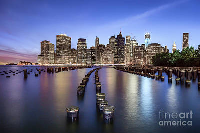 Gotham Photograph - When The Lights Go On by Evelina Kremsdorf