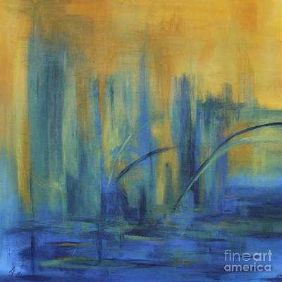 Painting - When The Sun Goes Down Over The City by Christiane Schulze Art And Photography