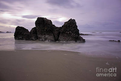 Central Oregon Coast Photograph - When The Sun Is Behind The Clouds by Masako Metz