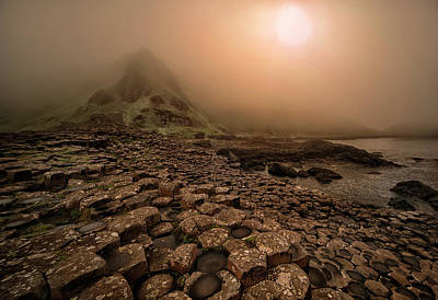 Photograph - Sunset At Giant's Causeway by Jaroslaw Blaminsky