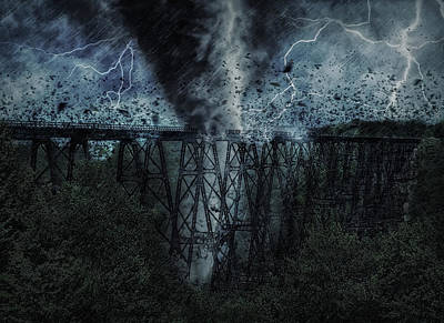 Photograph - When The Tornado Hit The Bridge by Wade Aiken