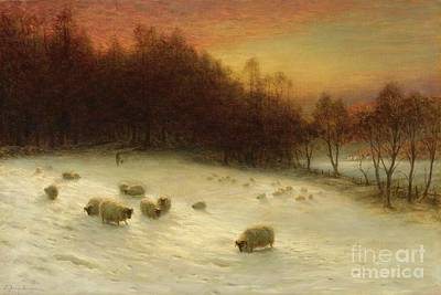 Joseph Farquharson Wall Art - Painting - When The West With Evening Glows by Celestial Images