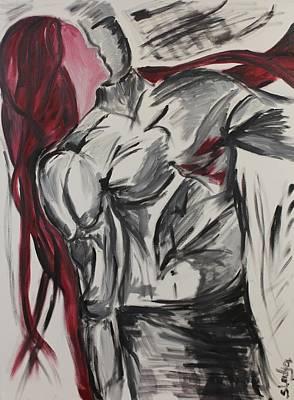 When The Women Loves A Man Art Print by Sladjana Lazarevic