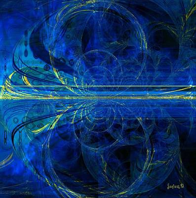 Faniart Digital Art - When The World Goes Yellow by Fania Simon