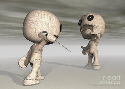 Voodoo Doll Digital Art - When Toys Go Bad by Sandra Bauser Digital Art