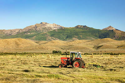 Bale Photograph - When Tractors Were Good by Todd Klassy
