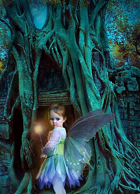 Fairy Wall Art - Digital Art - When Twilight Fades by Jean Hildebrant